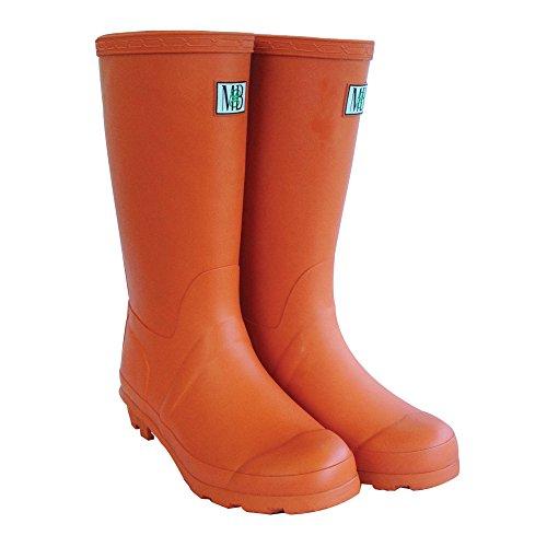 Moneysworth & Best Kid's Rubber Rain Welly Boots, 5, Orange