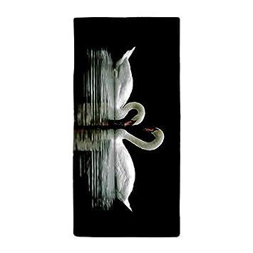 tamengi dos Swan en el lago cena absorbente toalla toalla de baño toalla de playa de microfibra: Amazon.es: Hogar