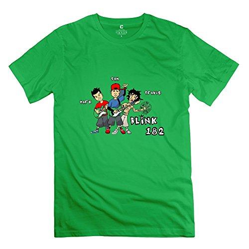 QDJT Men's Blink 182 T-shirt S