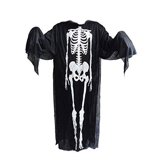 Euone  Halloween Clearance , Ghost Clothes for Woman Men Scary Skull Skeleton Costume + Devil Mask Cosplay -