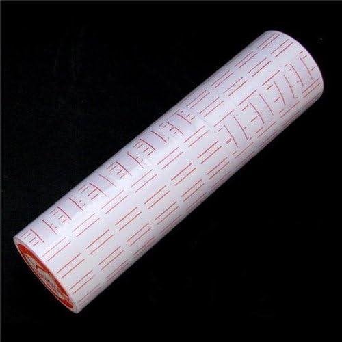 10Rollos de Etiquetas de papel para pistola etiquetadora de precios MX-5500