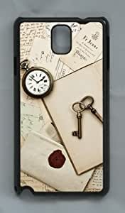 Antique Keys and Table DIY Hard Shell Black Samsung Galaxy Note 3 N9000 Case Perfect By Custom Service