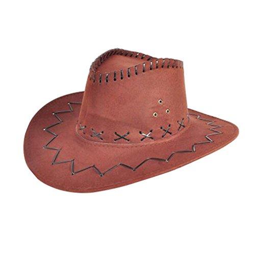 George Jimmy Kids Cowboy Hat Children Costume Hats Party Hat -Brown]()