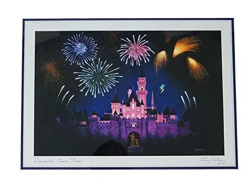 Art Signed Matted Print - Disneyland