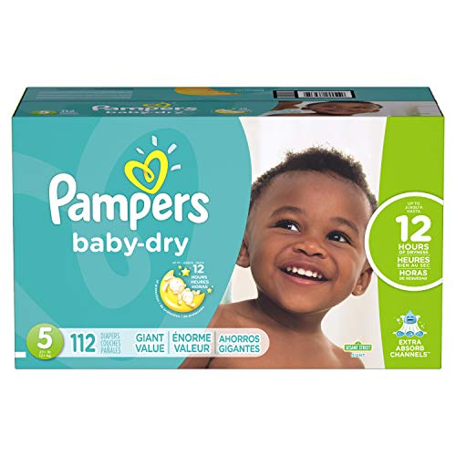Diapers Size 5, 112 Count - Pampers Baby Dry Disposable Baby Diapers, Giant
