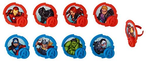 Avengers Mightiest Hero Cupcake Rings/Toppers - 16 count