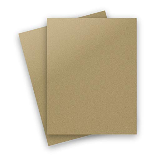 Metallic Antique Gold Leaf 8-1/2-x-11 Lightweight 32T Multi-use Paper 50-pk - PaperPapers 118 GSM (32/80lb Text) Letter Size Everyday Paper - Professionals, Designers, Crafters and DIY Projects ()