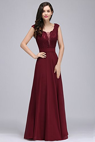 Misshow Womens Long Lace Chiffon Evening Dresses For Wedding Prom Gown:  Amazon.co.uk: Clothing