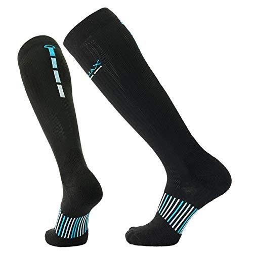 - COOLMAX Brand 3 pairs Performance compression (15-20 mmHg) cushion over the calf socks for Men & Women socks (L)