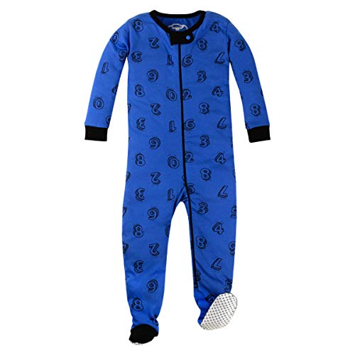 Lamaze Organic Toddler Unisex Stretchie Pajamas, Blue, 3T