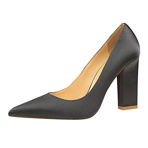 Légeres Couleur Pointu Matière Femme Aalardom Unie Gris Mélangee Chaussures 7X0tWxqp