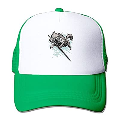 Swordswolf Baseball Cap Adjustable Snapback Custom Mesh Trucker Hat- One Size Fits All from Swesa