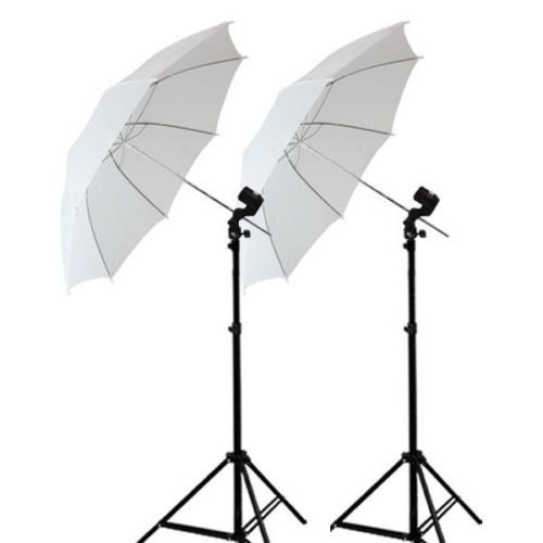 SHOPEE Set of Umbrella White 80CM + Portable Foldable Umbrella Flash Photo Video Studio Lighting Photography Stand + Umbrella and Bulb Holder with Carry Bag