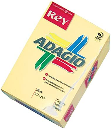 Dohe 30201 - Pack de 500 hojas de papel, A4, color amarillo ...