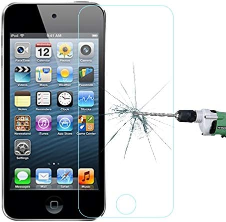 KANEED 強化ガラスフィルム 高透過率 アンチグレア iPod touch 5&touch 6用0.26mm超薄型透明なフルスクリーン防爆型強化ガラスフィルム