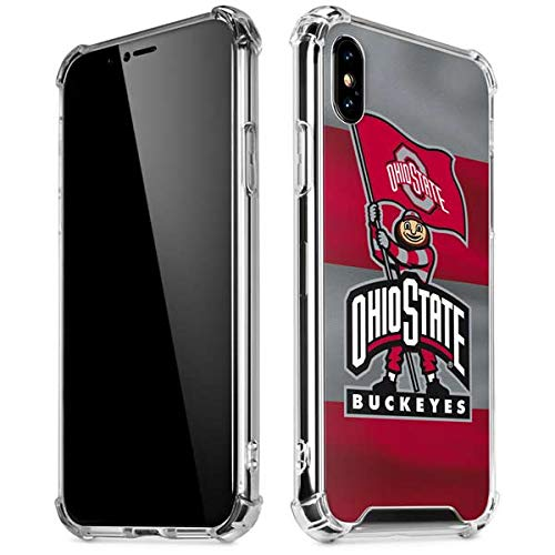 Skinit OSU Ohio State Buckeyes Flag iPhone XR Clear Case - Officially Licensed Ohio State University Phone Case - Slim, Lightweight, Transparent iPhone XR Cover (Osu Buckeyes Cover)