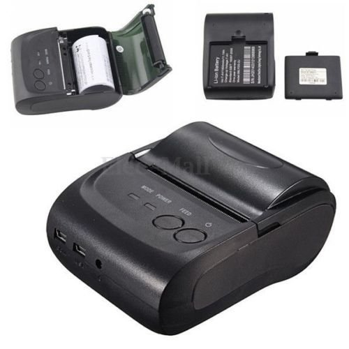 Mini Wireless 58mm Portable Bluetooth Thermal Printer Receipt for Android Mobile (Ibm Ethernet Cables)