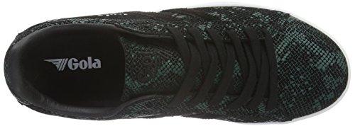 Gola Womens Equipe Rettile Fashion Sneaker Nero / Verde