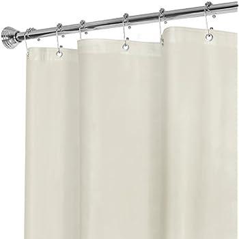 MAYTEX Super Heavyweight Premium 10 Gauge Shower Curtain Liner With Rustproof Metal Grommets Beige 72 Inch X In Vinyl