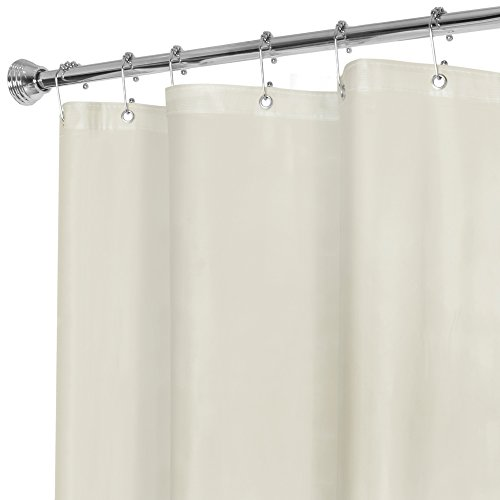 MAYTEX Super Heavyweight Premium 10 Gauge Shower Curtain Liner with Rustproof Metal Grommets, Beige, 72 inch x 72 inch in Vinyl - This Product is Treated with an Agent to Resist Mildew