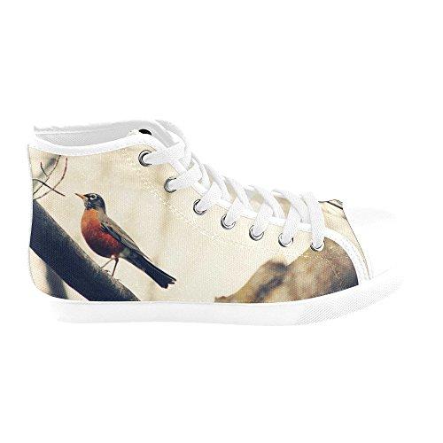 H5 For Women Artsadd Canvas Silhouette Model002 High Shoes Top Blues ZRxRwSqnYz