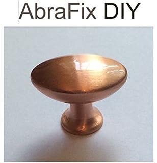 copper door knobs. 6pk - 28mm \u0027pearle\u0027 brushed copper effect cupboard/wardrobe door handle knob knobs