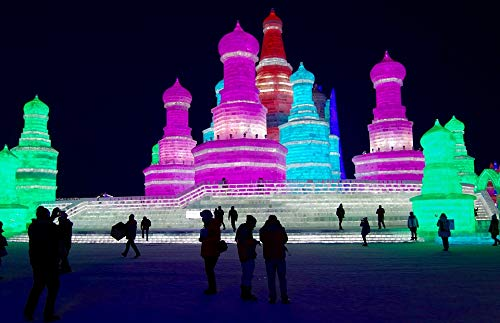 (Home Comforts Framed Art for Your Wall Ice China Tourism Winter Harbin Festival Vivid Imagery 10 x 13 Frame)