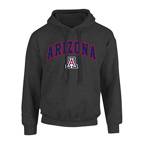 (Elite Fan Shop NCAA Men's Arizona Wildcats Hoodie Sweatshirt Dark Heather Arch Arizona Wildcats Dark Heather X)