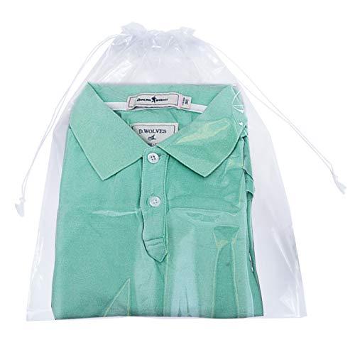(Clear Drawstring Bags 10