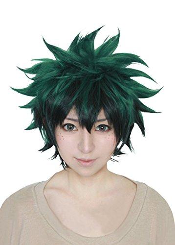 Cfalaicos My Hero Academia Boku no Hiro Akademia Izuku Midoriya Cosplay Wigs (Need Style by Yourself)