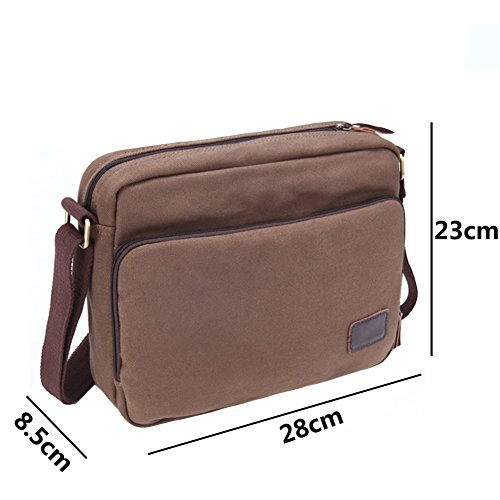 Over Men's Leather Messenger Man Shoulder Vintage Bag Yiy Canvas body 3013 Cross 0UZqBdx