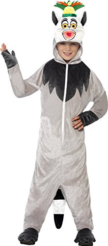 Smiffy's Children's Madagascar King Julien The Lemur Costume, All-in-one