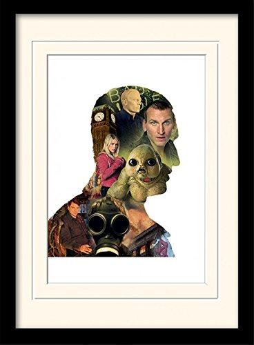 1art1 101668 Doctor Who - Eccleston Gerahmtes Poster Für Fans Und Sammler 40 x 30 cm