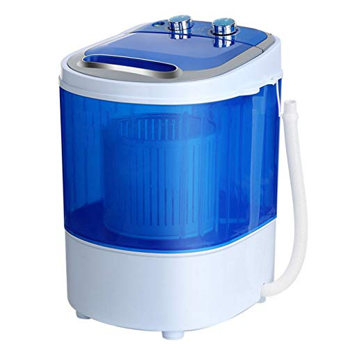 Compact Washing Machine,Infants and Small Children Single Barrel Cylindrical Washing Socks Dual Washing and Dewatering 350500 MM(Blue)