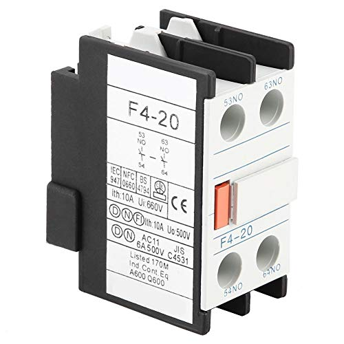 Liukouu 8Pcs F4-20 2NO Auxiliary Contact Block for CJX2 CJX4 LC1 Series AC Contactor
