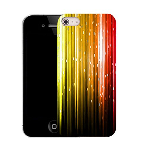 Mobile Case Mate IPhone 5S clip on Silicone Coque couverture case cover Pare-chocs + STYLET - rainbow falling strip pattern (SILICON)