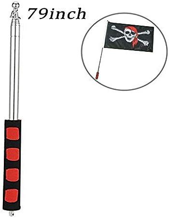 Neu Guide Flagpole Telescoping Stainless Steel+Sponge Flagpole Teaching Poi H3Y5