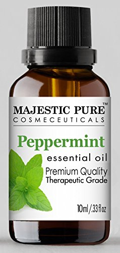 MajesticPure Aromatherapy Essential Oils Set, Includes Lavender, Frankincense, Peppermint, Lemon, Tea Tree & Rosemary Oils - Pack of 6-10 ml each