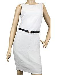 Womens Light Gray Silk Interlocking G Belt Dress 260755 Size: 42. Gucci