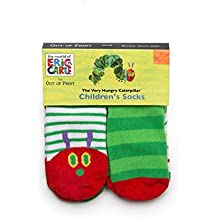 Out of Print World of Eric Carle, The Very Hungry Caterpillar Unisex Socks 4-Pack 12-24 Months