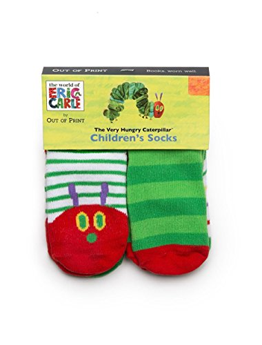 Eric Carle Merchandise - Out of Print World of Eric Carle, The Very Hungry Caterpillar Unisex Socks 4-Pack 2T-3T