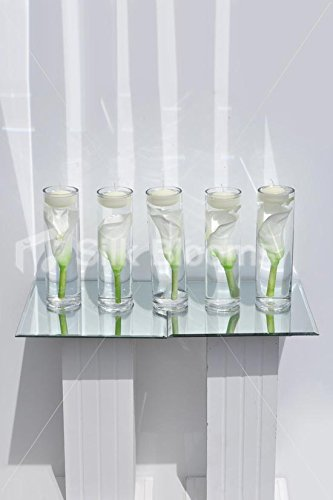 Amazon Set Of 5 Artificial Calla Lily Floating Candle Vase