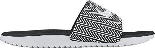 Nike Womens Kawa Slide Print Sandal Black/White ()