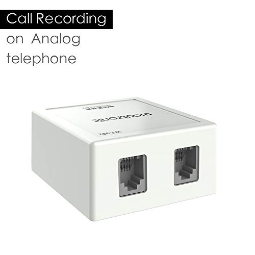 Landline Phone Call Recorder Device, Automatic Telephone Call Recording on Analog Lines, Auto Answering Messages and No Memory Card Needed, Only for iPhone Users