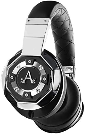 A-Audio A01 High Definition Headphones, Black Liquid Chrome