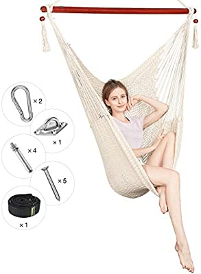300KG Double Hammock Air Chair Hanging Swinging Bed Outdoor Camping Garden Yard