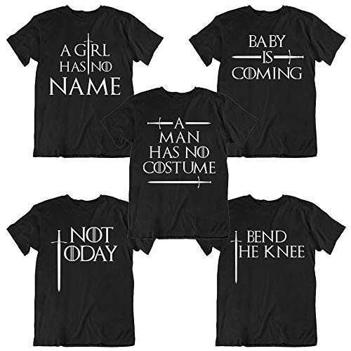 A Man Has No Costume - Not Today - Bend The Knee - Thrones TV Series Fans Matching Group Customized Handmade T-Shirt Hoodie/Long Sleeve/Tank Top/Sweatshirt ()