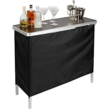 Etonnant Portable Bar Table   Two Skirts Included By Trademark Innovations (Green  And Black Skirts)
