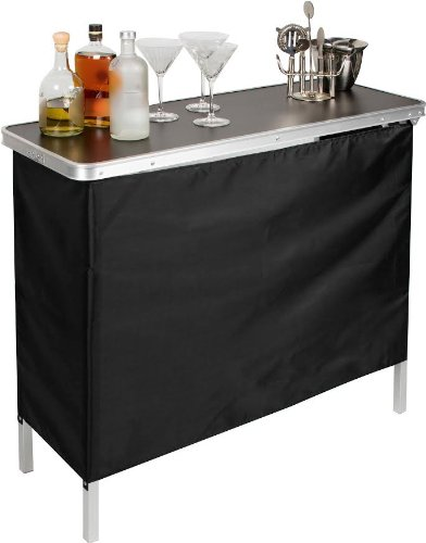 - Trademark Innovations Portable Bar Table - Carrying Case Included