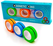 Time-killer Magnetic Rings Finger Spinner Fidget Stress Relief Toy, Hand Spinner Decompression Unzip Toy for A